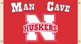 NCAA Nebraska Cornhuskers Man Cave Flag with Grommets Flag
