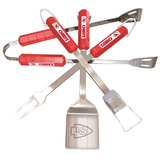 NFL Kansas City Chiefs Four Piece Stainless Steel BBQ Set BBQ Grill Set