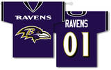 NFL Baltimore Ravens 2-Sided Jersey Banner Flag