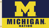 NCAA Michigan Wolverines Flag with Grommets Flag