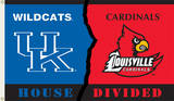 NCAA Kentucky - Louisville Rivarly House Divided Flag with Grommets Novelty