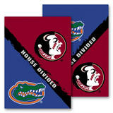 NCAA Florida - Florida St. 2-Sided House Divided Rivalry Garden Flag Flag