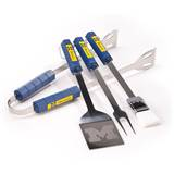 NCAA Michigan Wolverines Four Piece Stainless Steel BBQ Set Novelty