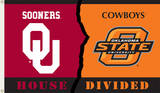 NCAA Oklahoma - Oklahoma State Rivarly House Divided Flag with Grommets Flag