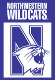 NCAA Northwestern Wildcats 2-Sided House Banner Flag