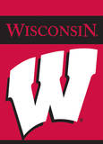 NCAA Wisconsin Badgers 2-Sided Garden Flag Flag