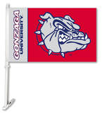 NCAA Gonzaga Bulldogs Car Flag with Wall Bracket Flag