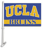 NCAA UCLA Bruins Car Flag with Wall Bracket Novelty