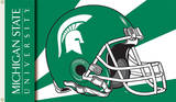 NCAA Michigan State Spartans Helmet Flag with Grommets Flag