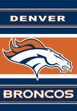 NFL Denver Broncos 2-Sided House Banner Flag