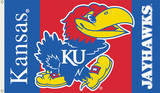 NCAA Kansas Jayhawks Flag with Grommets Flag