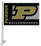 NCAA Purdue Boilermakers Car Flag with Wall Bracket Flag