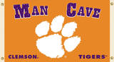 NCAA Clemson Tigers Man Cave Flag with Grommets Novelty