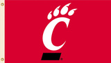 NCAA Cincinnati Bearcats Flag with Grommets Flag