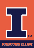 NCAA Illinois Fighting Illini 2-Sided Garden Flag Flag