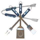 NFL Indianapolis Colts Four Piece Stainless Steel BBQ Set BBQ Grill Set