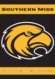 NCAA Southern Miss Golden Eagles 2-Sided House Banner Flag