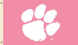 NCAA Clemson Tigers Pink Design Flag with Grommets Novelty