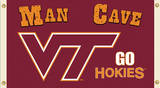 NCAA Virginia Tech Hokies Man Cave Flag with Grommets Flag