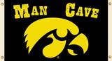 NCAA Iowa Hawkeyes Man Cave Flag with Grommets Bandera