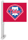 MLB Philadelphia Phillies Car Flag with Wall Bracket Novelty