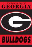 NCAA Georgia Bulldogs 2-Sided House Banner Bandera