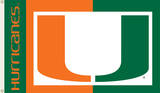 NCAA Miami Hurricanes Flag with Grommets Flag