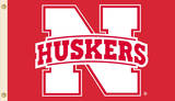 NCAA Nebraska Cornhuskers 2-Sided Flag with Grommets Flag