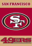 NFL San Francisco 49Ers 2-Sided House Banner Flag