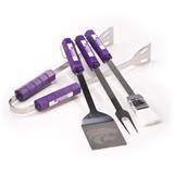 NCAA Kansas State Wildcats Four Piece Stainless Steel BBQ Set Novelty