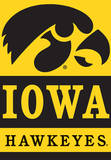 NCAA Iowa Hawkeyes 2-Sided House Banner Flag