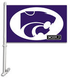 NCAA Kansas State Wildcats Car Flag with Wall Bracket Novelty