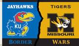 NCAA Kansas - Missouri Rivarly House Divided Flag with Grommets Flag
