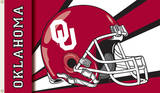 NCAA Oklahoma Sooners Helmet Flag with Grommets Flag