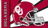 NCAA Oklahoma Sooners Helmet Flag with Grommets Flag