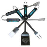 NFL Jacksonville Jaguars Four Piece Stainless Steel BBQ Set BBQ Grill Set