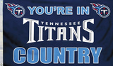 NFL Tennessee Titans Country Flag with Grommets Flag