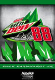 Nascar Dale Jr. 88 Mtn. Dew 2-Sided House Banner Wall Scroll