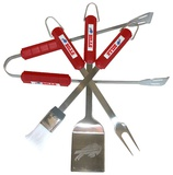 NFL Buffalo Bills Four Piece Stainless Steel BBQ Set BBQ Grill Set