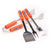 NCAA Florida Gators Four Piece Stainless Steel BBQ Set BBQ Grill Set