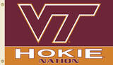 NCAA Virginia Tech Hokies Flag with Grommets Flag