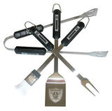 NFL Oakland Raiders Four Piece Stainless Steel BBQ Set BBQ Grill Set