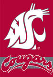NCAA Washington State Cougars 2-Sided House Banner Flag