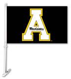 NCAA Appalachian State Car Flag with Wall Bracket Flag