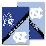 NCAA N. Carolina - Duke 2-Sided House Divided Rivalry Garden Flag Flag