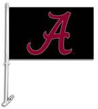 NCAA Alabama Crimson Tide Car Flag with Wall Bracket Bandera