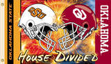 NCAA Oklahoma - Ok St. House Divided Rivarly Helmet Flag with Grommets Flag