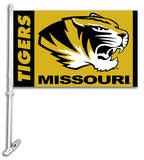 NCAA Missouri Tigers Car Flag with Wall Bracket Flag
