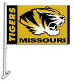 NCAA Missouri Tigers Car Flag with Wall Bracket Flag