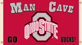 NCAA Ohio State Buckeyes Man Cave Flag with Grommets Flag